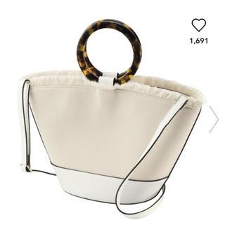 ジーユー(GU)のデザインハンドルキャンバスバッグ 💕(ハンドバッグ)