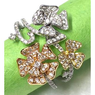 ぺぺ様専用です💓   K18WG  ダイヤモンド flower  rimg(リング(指輪))