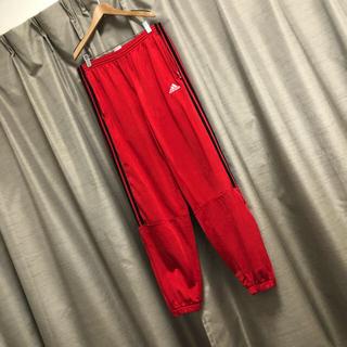 アディダス(adidas)のadidas サイドライン  ジャージ トラック パンツ 赤 黒 ビッグ  古着(その他)
