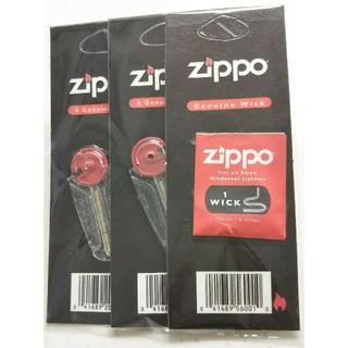 ジッポー(ZIPPO)のZippo ジッポ ウィック替え芯(1本)& 着火石フリント(2個)セット(タバコグッズ)