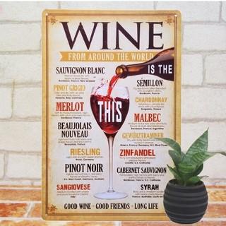 デザイン看板】赤ワイン th★1000種類れんと★赤ワイン ビンテージワイン(その他)