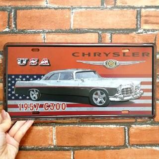 ブリキ看板 クライスラー CHRYSLER 1957 C300 USA アメ車(その他)