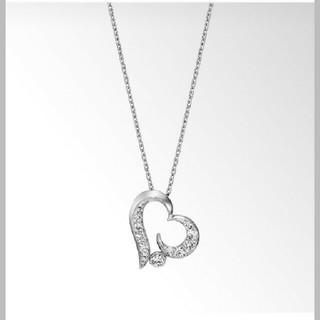スタージュエリー(STAR JEWELRY)の美品特価☆スタージュエリー ハートムーン プラチナ ダイヤモンド ネックレス(ネックレス)