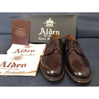 オールデン(Alden)のALDEN コードバン 990 新品 オールデン レア バーガンディ 71/2E(ドレス/ビジネス)