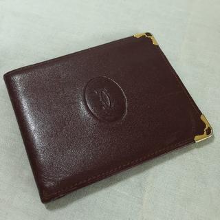 72bd519f7a5a カルティエ(Cartier)の【カルティエ Cartier】二つ折り札入れ マストライン ボルドー♪