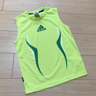 アディダス(adidas)のadidas☆ドライメッシュタンクトップ☆130cm☆ライムグリーン☆アディダス(Tシャツ/カットソー)