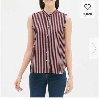 ジーユー(GU)のバンドカラーシャツ ジーユー(シャツ/ブラウス(半袖/袖なし))
