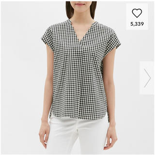ジーユー(GU)のギンガムチェックスキッパーシャツ ジーユー(シャツ/ブラウス(半袖/袖なし))