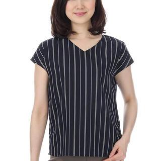 アオヤマ(青山)のカットソー ストライプ 洋服の青山(カットソー(半袖/袖なし))