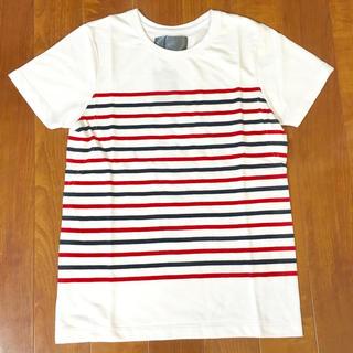 ダブルジェーケー(wjk)の※限定セール【新品】wjk ボーダー Tシャツ ホワイト S(Tシャツ/カットソー(半袖/袖なし))