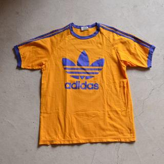 アディダス(adidas)のadidas アディダス ビッグ トレフォイル Tシャツ L-O デサント製(Tシャツ/カットソー(半袖/袖なし))