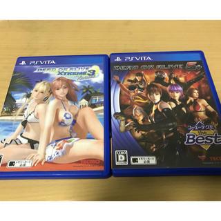 プレイステーションヴィータ(PlayStation Vita)のDEAD OR ALIVE ps vitaソフト 2作まとめ売り(携帯用ゲームソフト)