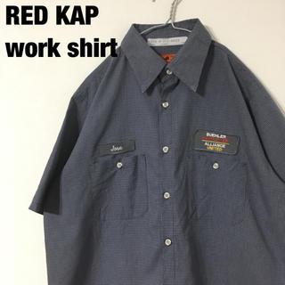 古着 RED KAP poly×cotton ワークシャツ(シャツ)