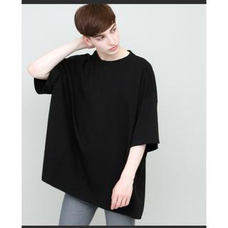 スーパービッグシルエットカットソー(ブラック)EMMA CLOTHES(シャツ)