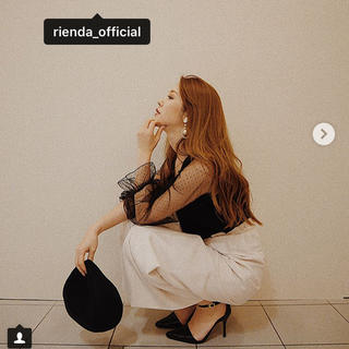rienda - ドットチュールSLV TOP