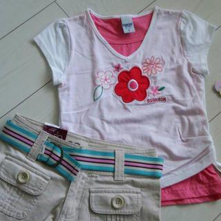 オシュコシュ(OshKosh)の新品 オシュコシュ 重ね着Tシャツ&ショートパンツ 110(その他)