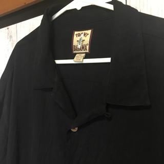 古着 黒開襟シャツ シルク(シャツ)