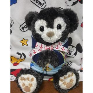 ディズニー(Disney)のポーチダッフィー  カラーリメイク 黒色(ぬいぐるみ)