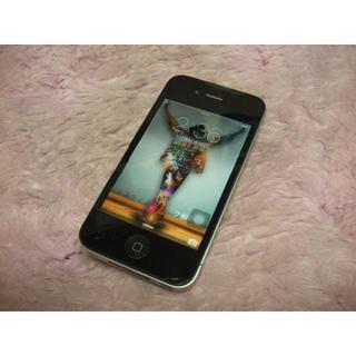 アップル(Apple)のiPhone4 32GB softbank No919 USB充電ケーブル付き(スマートフォン本体)