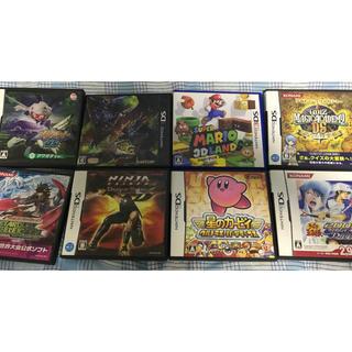 ニンテンドー DS 3DS ソフト8本 まとめ売り(携帯用ゲームソフト)