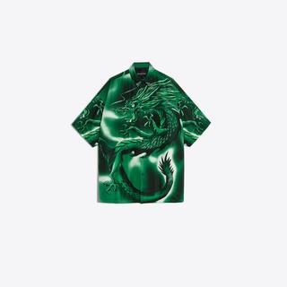 バレンシアガ(Balenciaga)の#wow様専用 BALENCIAGA dragonプリントシャツ green(シャツ)