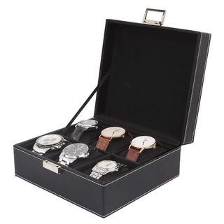 【ブランド時計の収納に】腕時計 収納ケース 6本用 ブラック(腕時計(アナログ))