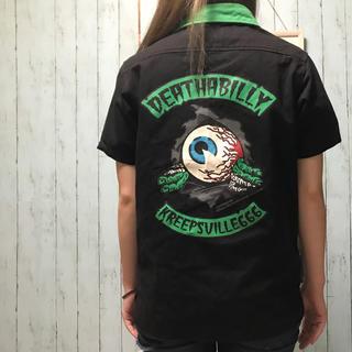 ヘルキャットパンクス(HELLCATPUNKS)のKREEPSVILLE666 HELLCATPUNKS シャツ ボーリングシャツ(シャツ)