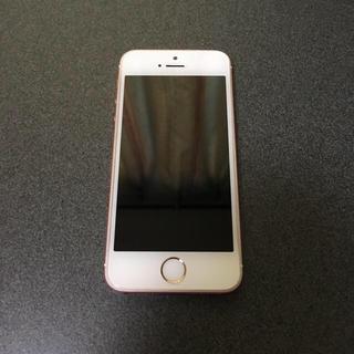 アイフォーン(iPhone)のiPhoneSE 64GB docomo rosegold 白ロム(スマートフォン本体)