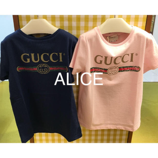 Gucci - 都内百貨店限定完売品❤️GUCCI グッチ キッズ ロゴTシャツ ピンク 140