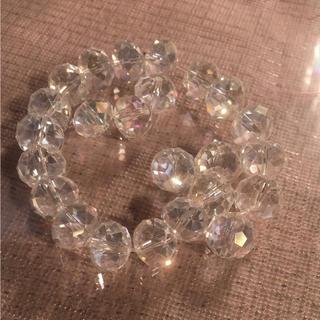 ガラス玉のダイヤモンドカット(各種パーツ)