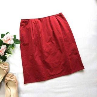 ヴァンドゥーオクトーブル(22 OCTOBRE)の22オクトーブル★ハリ感 膝上スカート 38 くすみピンク系(ひざ丈スカート)