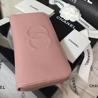 CHANEL - 可愛い♡CHANEL長財布✨デカココマーク✨キャビアスキン✨ラウンドジップ✨