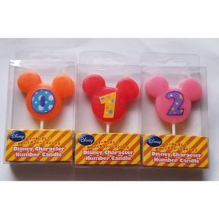 ディズニー(Disney)の【アウトレット、送料込み】ミッキー誕生日ロウソク3本セット(キャンドル)