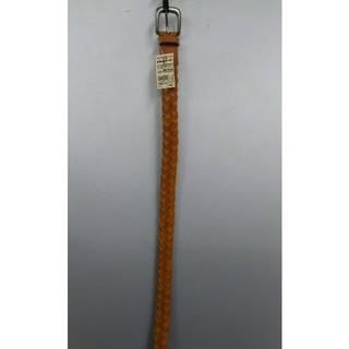 ムジルシリョウヒン(MUJI (無印良品))の新品 無印良品 ヌメ革 手染め編みベルト・キャメル(ベルト)
