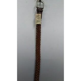 ムジルシリョウヒン(MUJI (無印良品))の新品 無印良品 ヌメ革 手染め編みベルト・ブラウン(ベルト)