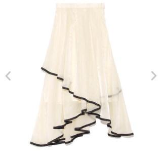 Lily Brown - リリーブラウン  裾パイピングイレヘムスカート