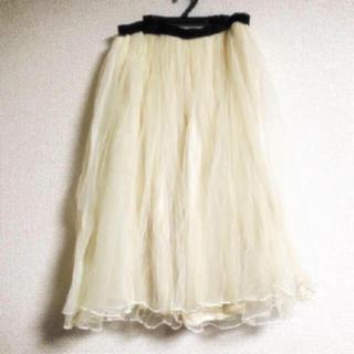 アルシーヴ(archives)の*ARCHIVES ふんわりチュール スカート *(ひざ丈スカート)
