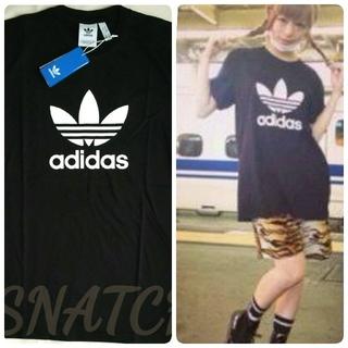 adidas - 新品!アディダス adidas トレフォイルロゴ ビッグロゴTシャツ 黒