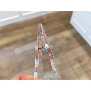 ノジェス(NOJESS)のADA ブルートパーズ 天然石 リング k10 (リング(指輪))
