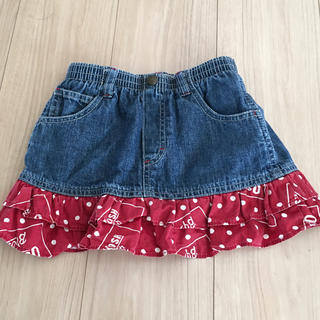 オシュコシュ(OshKosh)のオシュコシュ/デニムスカート♡インナーパンツ付き♡95(スカート)