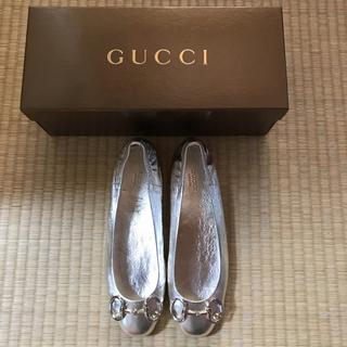 グッチ(Gucci)のGUCCI フラットパンプス 37(ハイヒール/パンプス)