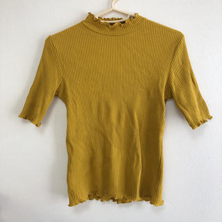 アルシーヴ(archives)のフリルトップス イエロー archives(Tシャツ(半袖/袖なし))