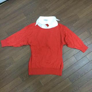 シマムラ(しまむら)のシャツ付きニット(ニット/セーター)