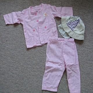 ニシマツヤ(西松屋)の70 パジャマ × 46cm 帽子 セット(パジャマ)