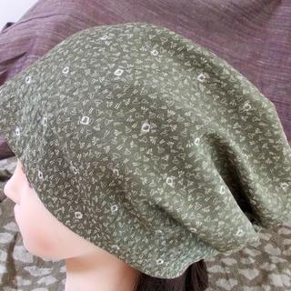 贅沢 特大 60 粋織り 扇意匠 キャップ 帽子 室内帽子(その他)