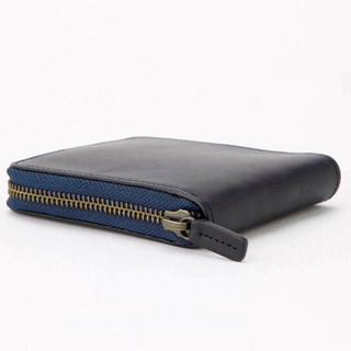 MUJI (無印良品) - 【新品】MUJI イタリア産ヌメ革ラウンドファスナー二つ折り財布