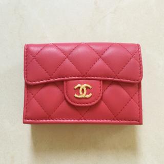CHANEL - CHANEL♡ピンク♡三つ折り♡ミニ財布♡スモールウォレット♡シャネル