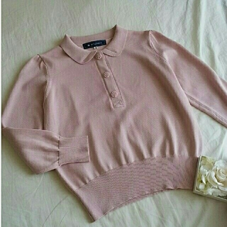M'S GRACY - ♡未使用♡くすみピンクの丸襟ニット