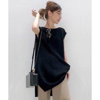 L'Appartement DEUXIEME CLASSE - 新品◆送込◆アパルトモン◆ノースリーブ Knit Vest ニットベスト 黒