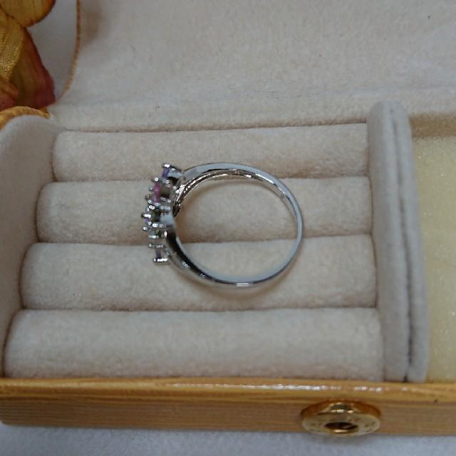 綺麗なマルチカラーの可愛い指輪です。サイズ15号 レディースのアクセサリー(リング(指輪))の商品写真